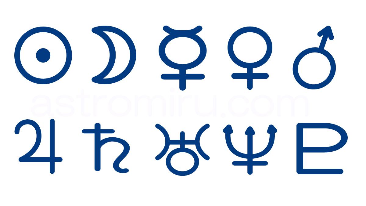 10天体の記号